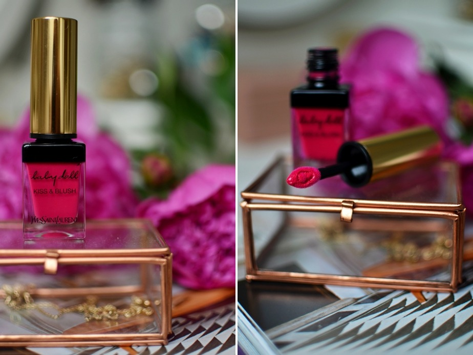 Yves Saint Laurent-Kiss and Blush-Babydoll-Lips and Cheeks-Review-Saint Laurent-Lipstick-Fuchsia-Matte-Pink-Puppenzirkus (7)-tile