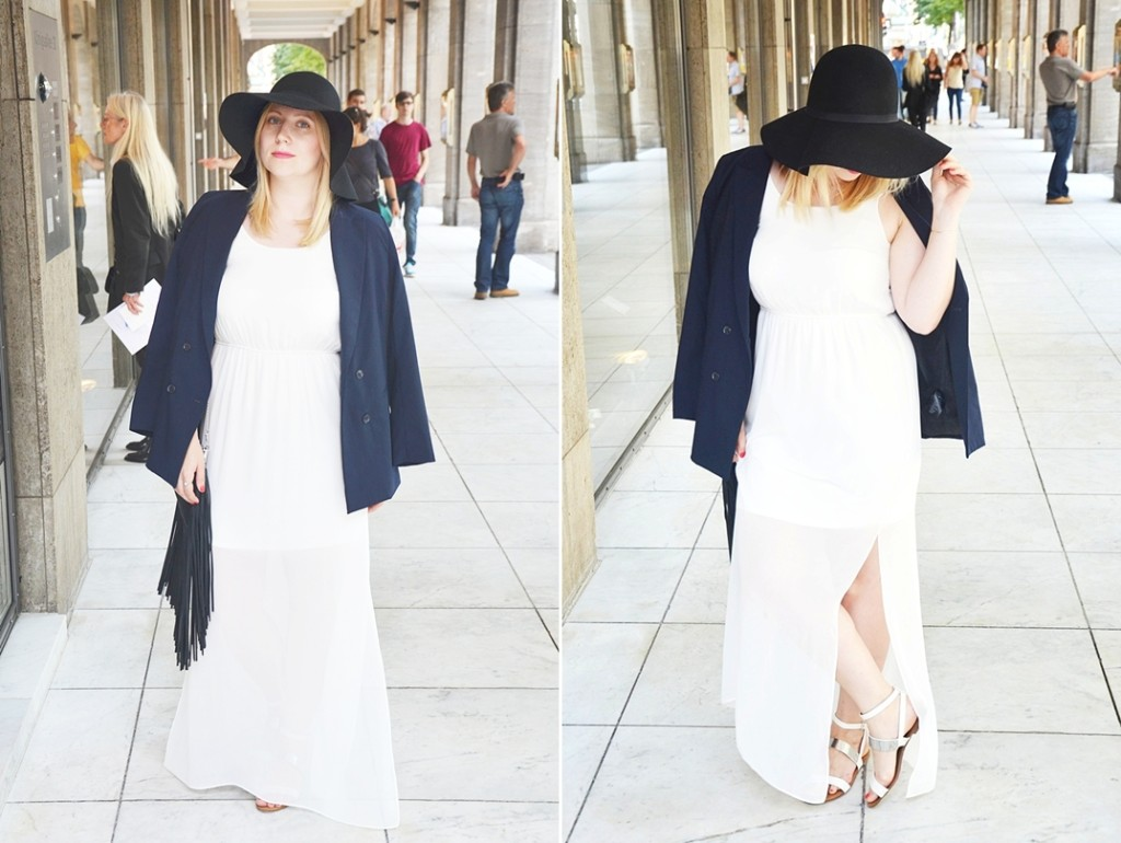 Outfit-White-Sheer-Dress-Double-Breasted-Blazer-Floppy-Hat-Schlapphut-Fringe-Bag-puppenzirkus-Ally-ootd-fashionblogger-look-horz