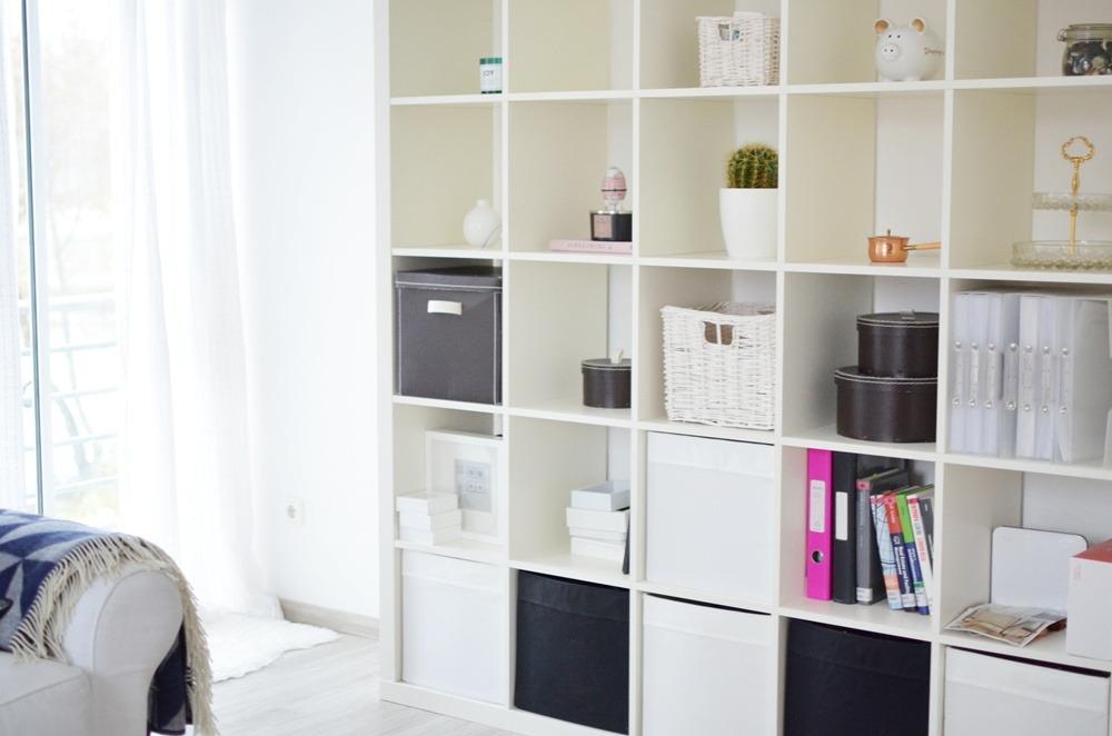 Living Room Skandinavisch Stil Wohnzimmer Interior Copper White