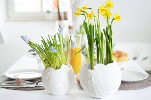 DIY: Eierschalen Blumentöpfe aus Pappmaché