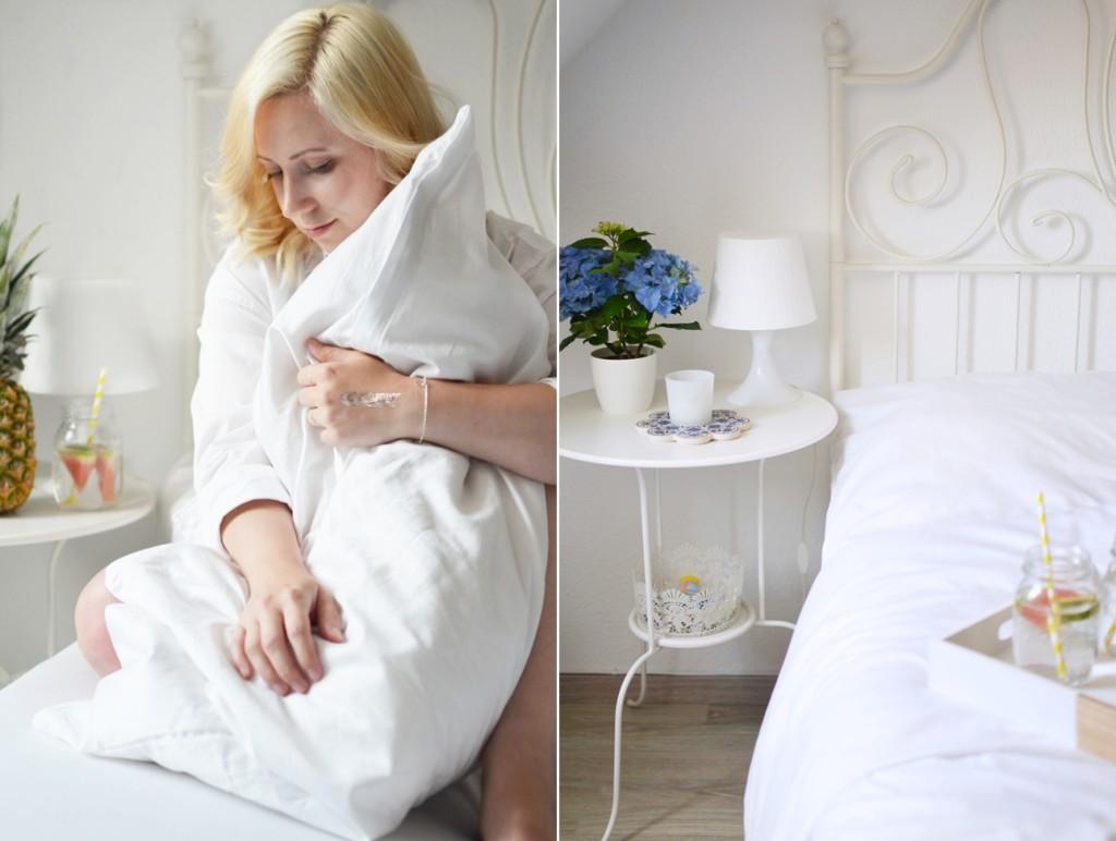 Ein Laken - Zwei Wohnungen - weiße Bettwäsche - plain -Cotton USA - Ally - Puppenzirkus-horz