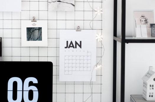Die 10 schönsten Kalender Printables für 2017