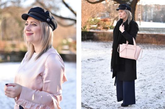 Outfit | Marlene Pants, Schiffermütze & Volantbluse