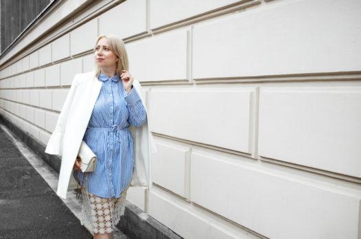 Fashion Week Streetstyle   Stripes, Lace & Leopard Booties