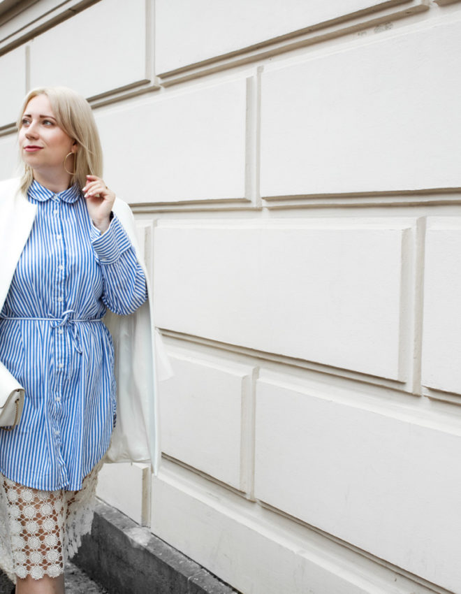 Fashion Week Streetstyle | Stripes, Lace & Leopard Booties