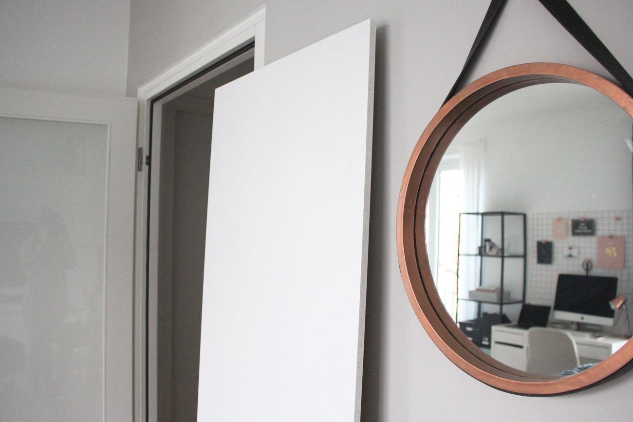 Utility Board DIY für den Eingangsbereich: Ausgangssituation von der Sperrholzplatte