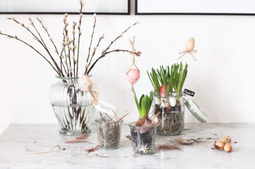 DIY: Blumige Osternester im Glas & Mini-Macramee mit eos