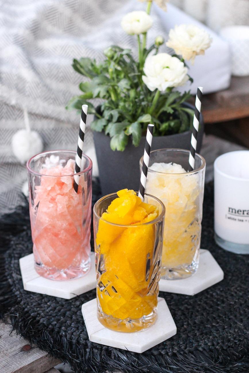 Frozen Cocktails von Käfer: Bellini Maracuja, Bellini Pfirsich und Pina Colada