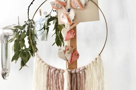 DIY: Boho Macramé Hoop als Hochzeitsgeschenk