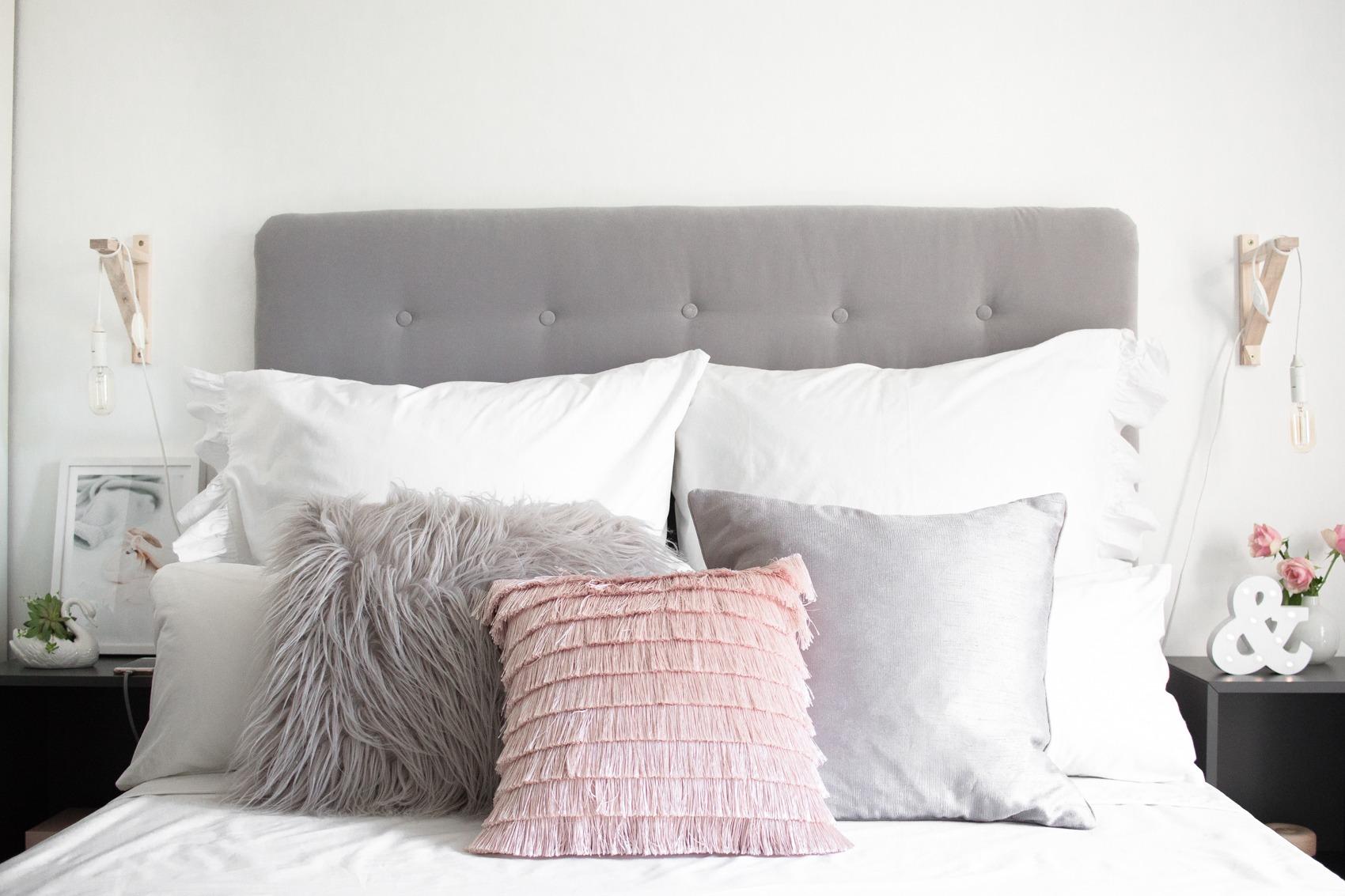 Diy Kopfteil Bett Selfmade Grau Samt Chesterfield Look 26 Puppenzirkus