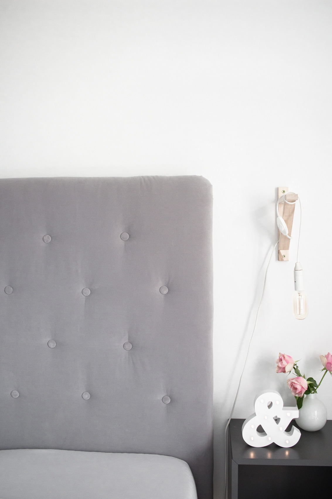 Diy Kopfteil Bett Selfmade Grau Samt Chesterfield Look 33 Puppenzirkus