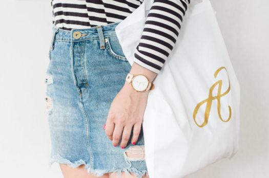 DIY Monogramm Tasche als Goodiebag für den JGA