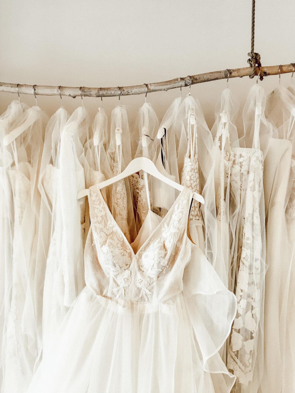 Brautkleid mit Corsagendetails