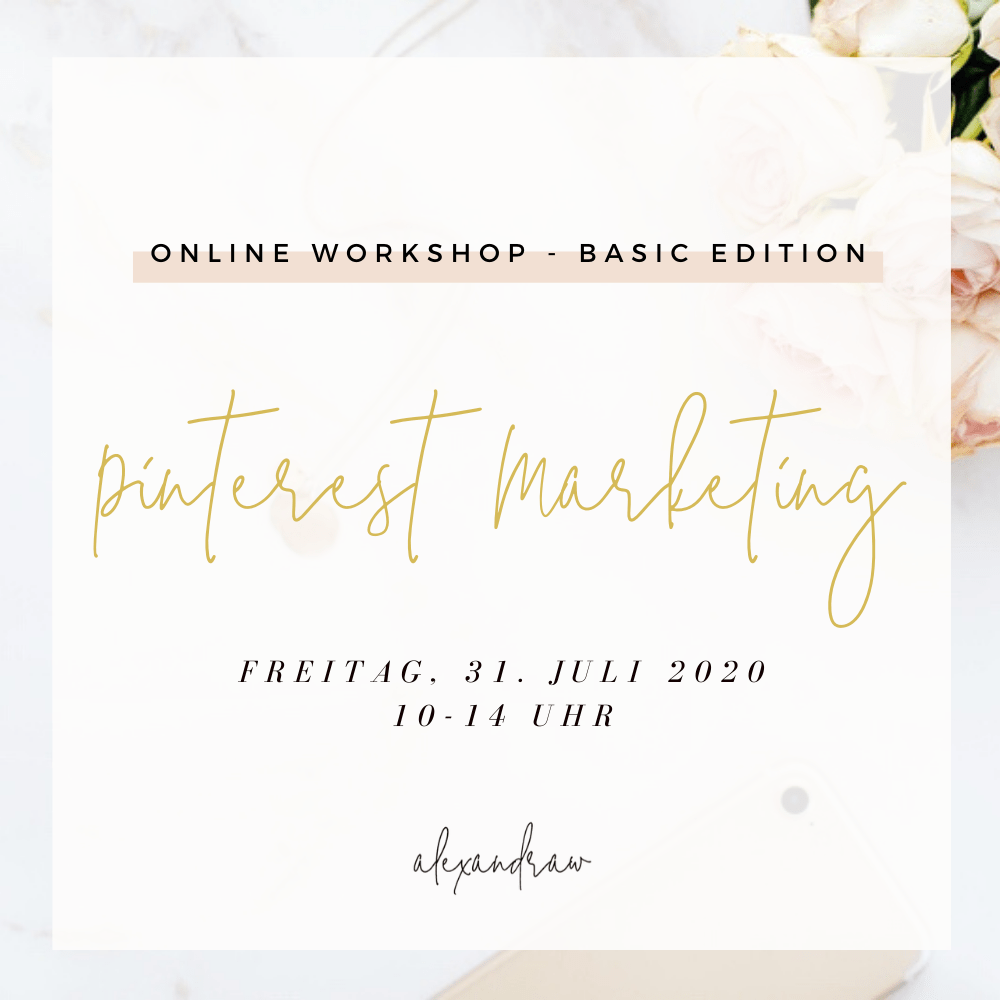 Pinterest Marketing Workshop am 31.07.2020