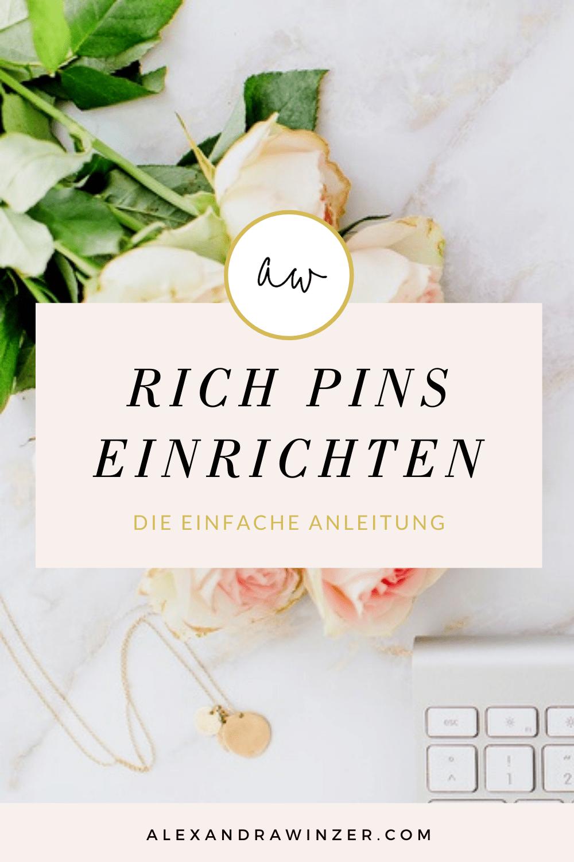 Rich Pins einrichten bei Pinterest