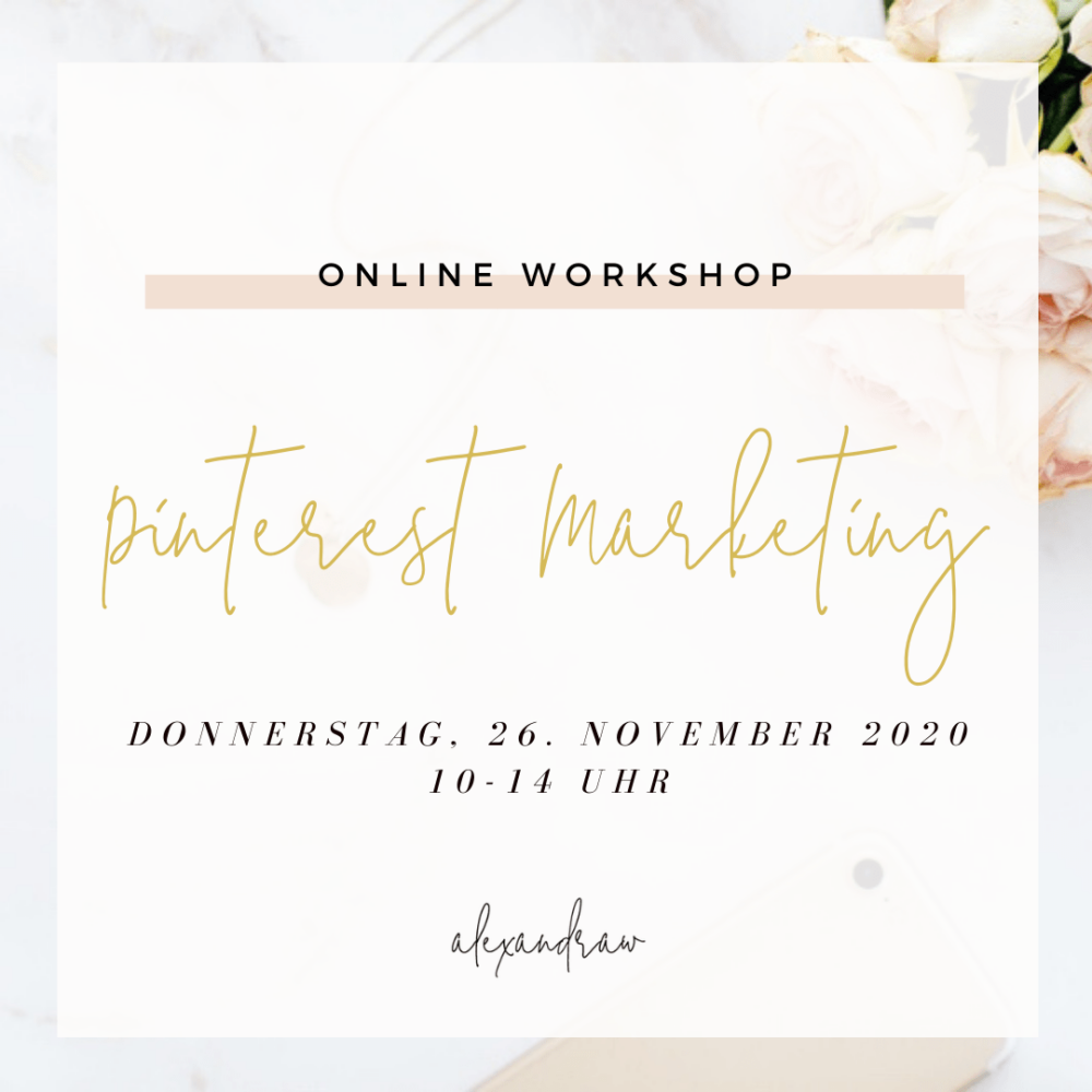Pinterest Workshop Online November 2020