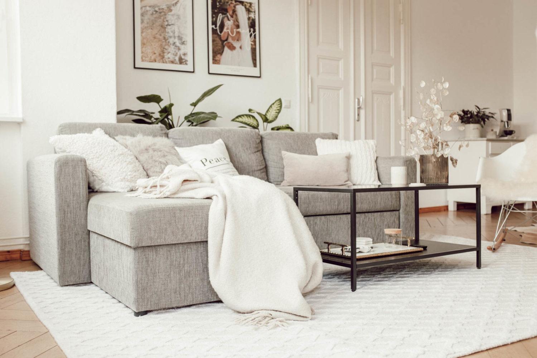 Kuschelige Teppiche im Wohnzimmer, wie dieser Wollteppich