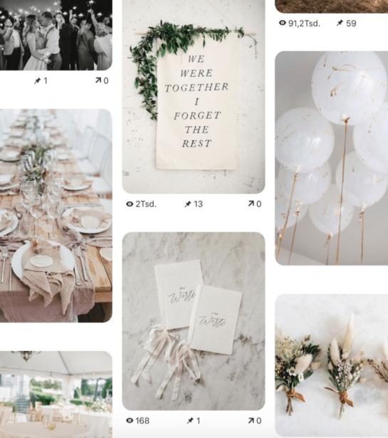 Hochzeitskonzept-Planung mit Pinterest: mein allgemeines Hochzeitsboard